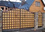 Кованые ворота (всередине дерево) 265, фото 2