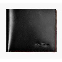 Бумажник кошелек мужской Issa Hara WB5 (01-00) black черный кожаный двойного сложения с отделениями для карт