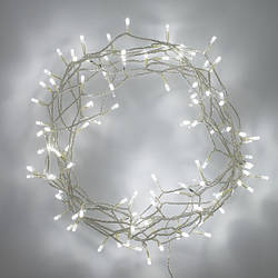 Гирлянда нить светодиодная LED 100 диодов, 8 метров белый