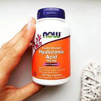 Now Foods, Гиалуроновая кислота, двойная сила, 100 мг, 120 капсул на растительной основе, официальный сайт