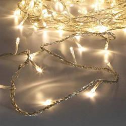 Гирлянда нить светодиодная 200 LED, 14 метров теплый белый