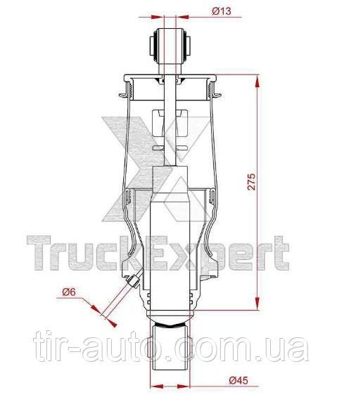 Амортизатор кабины MAN TGA/TGS задний ( Truck Expert ) 46733006TE