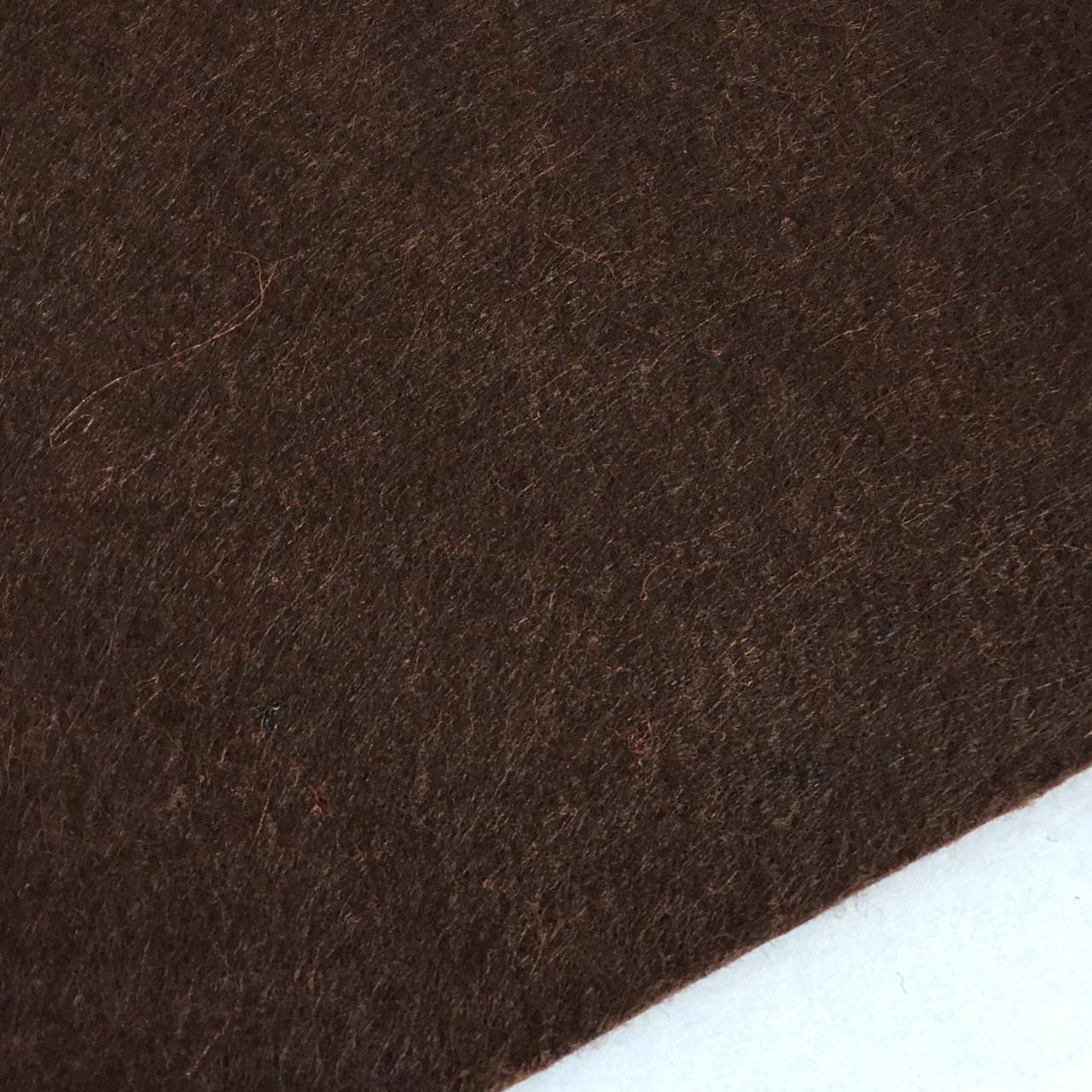 Фетр 1мм. Жесткий. Лист 20х25 см. Темно-коричневый