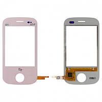 Touchscreen (сенсорный экран) для Fly E181, оригинал (розовый)