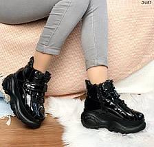 Черные лакированные ботинки, фото 3