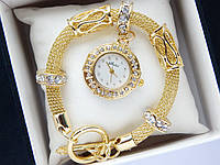 Женские кварцевые наручные часы SHSHD (Шамбала) на металлическом ремешке