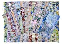 """Фольга для ногтей """"мрамор"""" (маникюра), 16 цветов"""