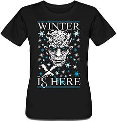 Женская футболка Game Of Thrones - Winter Is Here (чёрная)