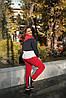 Молодежный теплый спортивный костюм с начесом женский: штаны и кофта со змейкой на вороте, большие размеры, фото 2