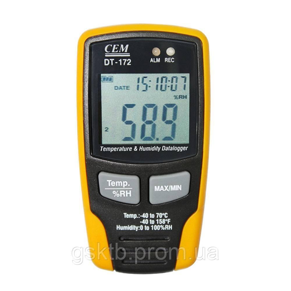Регистратор температуры и влажности DT-172 C.E.M.