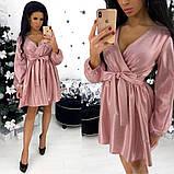 Платье / костюмная ткань с напылением / Украина 24-1308, фото 2