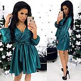Платье / костюмная ткань с напылением / Украина 24-1308, фото 5