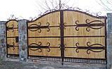 Кованые ворота (всередине дерево) 265, фото 3