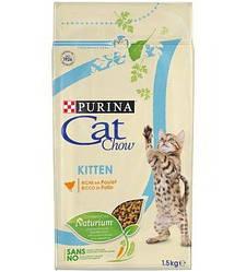 Корм Cat Chow Kitten Кет Чау Кіттен з куркою 15 кг