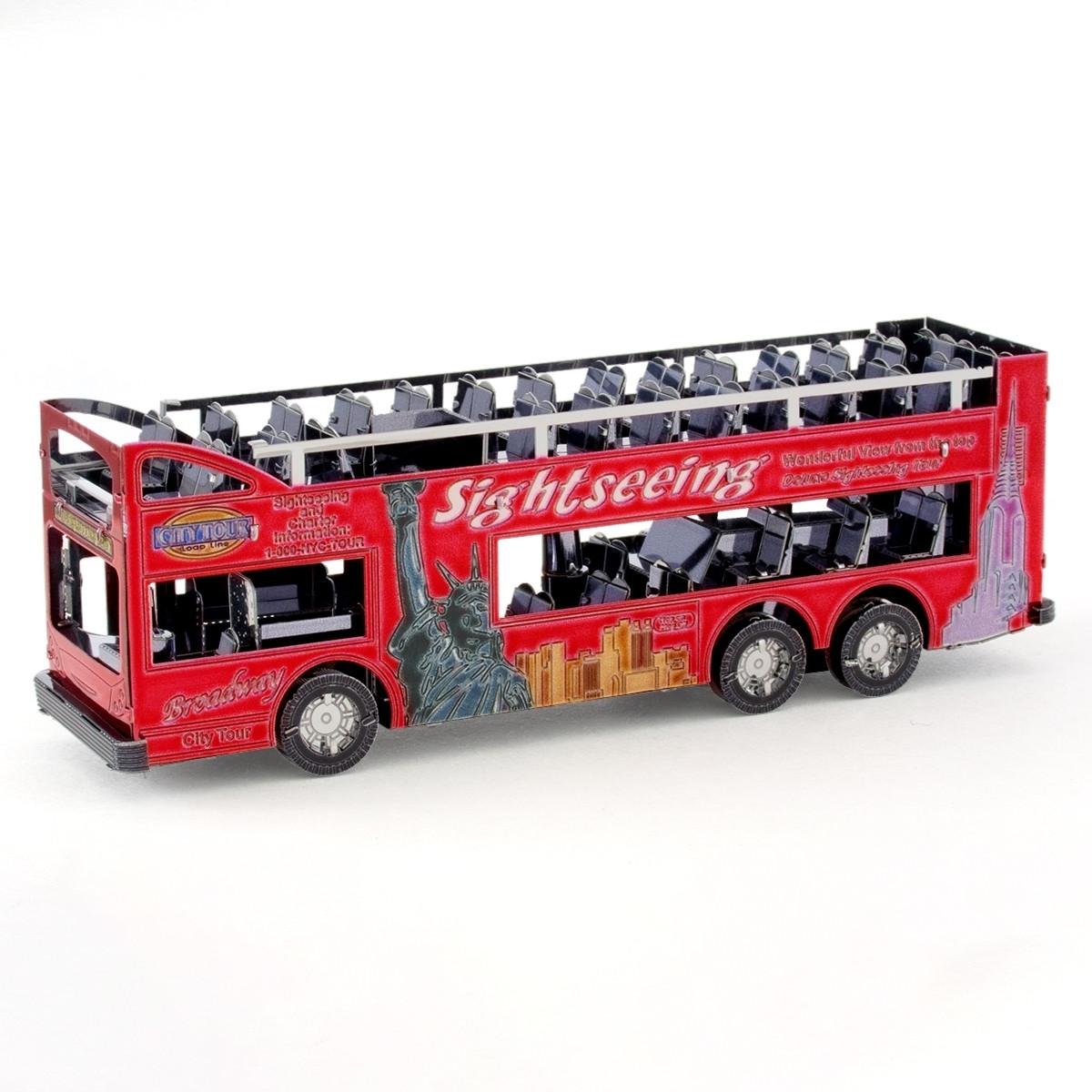 Металлическая сборная 3D модель Big Apple Tour Bus