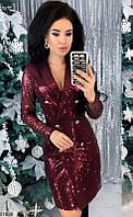 Платье женское вечернее блестящее пайетка на трикотажной подкладке 42-44,46-48 размеров