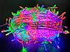 Новогодняя светодиодная гирлянда LED LIGHT 500 ламп 30 м ЦВЕТНАЯ (мультиколор), фото 2