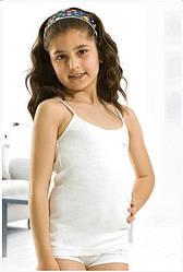 ОПТ Детские трикотажные майки с бусинками для девочек, Турция, (5 шт/набор)