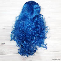 """Парик карнавальный """"Волна"""", 50 см, Цвет: Синий"""