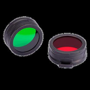 Диффузор фильтр для фонарей Nitecore NFG70 (70mm), зеленый 6-1375, фото 2