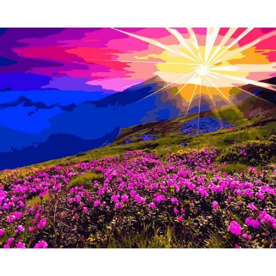 Картина по номерам Рассвет в горах, 40x50 см., Babylon