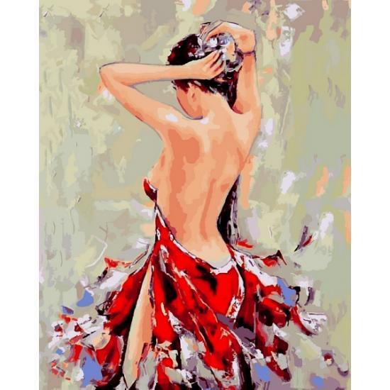 Картина по номерам VP1175 Девушка с заколкой, 40x50 см., Babylon