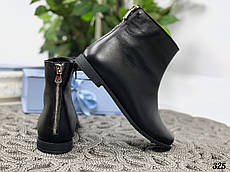41 р. Ботинки женские зимние черные кожаные на низком ходу, из натуральной кожи, натуральная кожа
