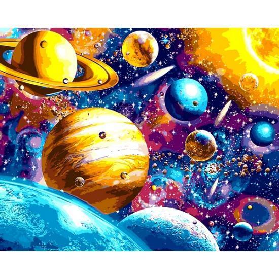 Картина по номерам Парад планет, 40x50 см., Babylon