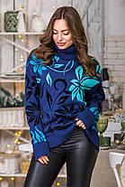 Шикарний теплий жіночий светр під горло розмір 44-52, фото 3