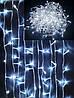 Новогодняя светодиодная гирлянда LED LIGHT 400 ламп 25 метров БЕЛАЯ на белом проводе, фото 2