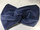 Широка пов'язка-чалма з экозамши колір бордо, фото 7