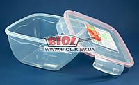 Контейнер 2,4 л Fresh Box квадратний 200х200х106мм пластиковий з кришкою з затискачами Ал-Пластик, фото 1