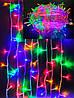 Новогодняя светодиодная гирлянда LED LIGHT 500 ламп 30 м ЦВЕТНАЯ (мультиколор), фото 3