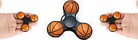 Спиннер basketball  Белый с оранжевым