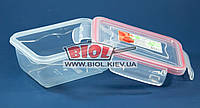 Контейнер 0,4 л Fresh Box прямокутний 133х98х61мм пластиковий з кришкою з затискачами Ал-Пластик, фото 1
