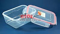 Контейнер 1,4л Fresh Box прямоугольный 200х145х88мм пластиковый с крышкой с зажимами Ал-Пластик, фото 1