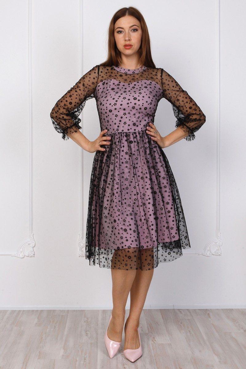 Интересное платье с сеткой