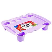 Игровой столик для песка и пластилина (фиолетовый) Play Toys (0164)
