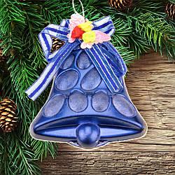 Новогоднее украшение колокольчик с декором