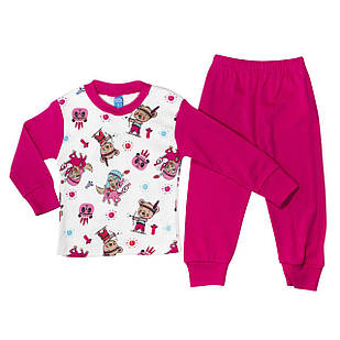 Пижама для девочки, размеры 1, 2, 3 года, 5, 6, 8, 9, 10, 11, 12 лет