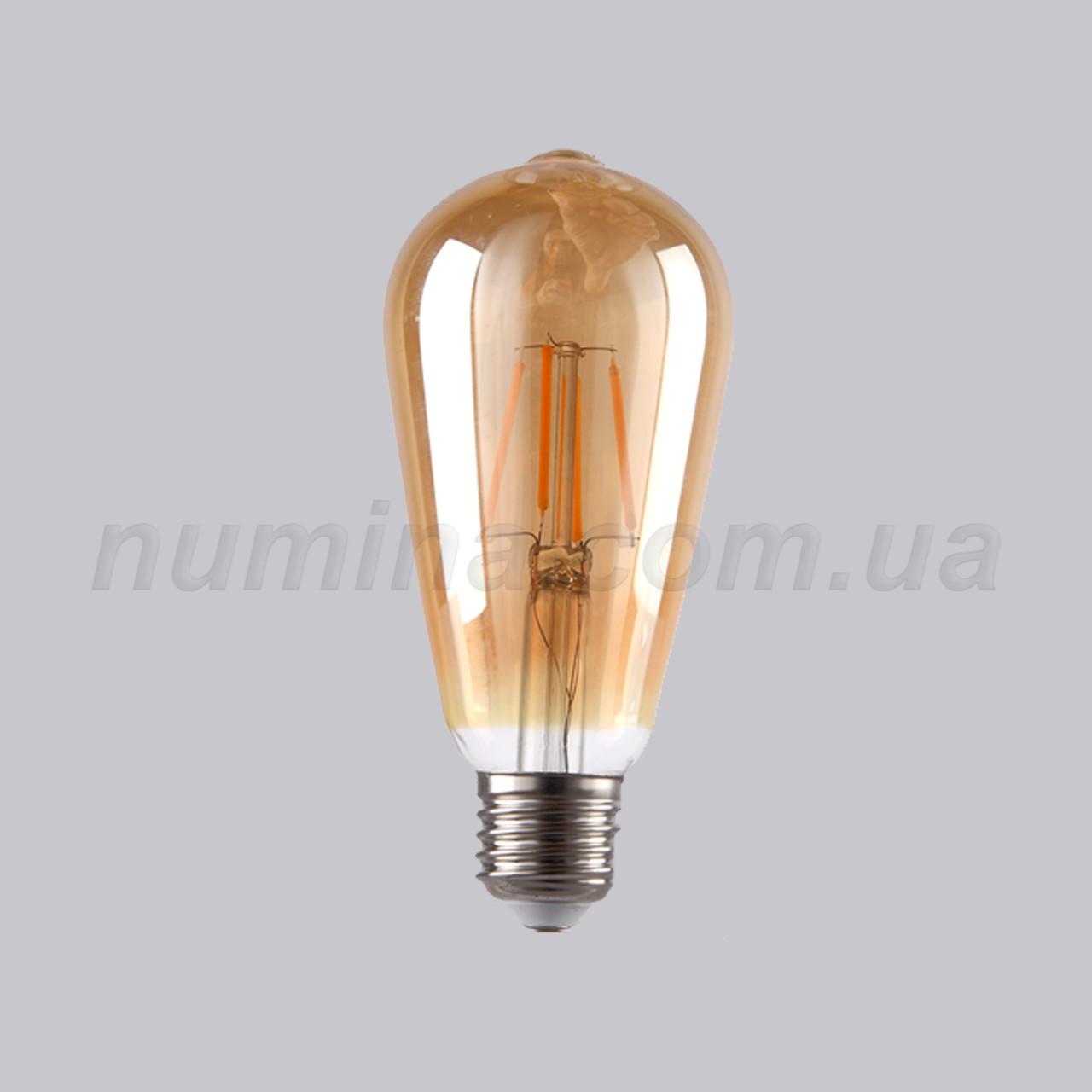 Лампочка - YS-ST64 Amber 6W  2700K
