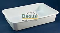 Лоток белый №4 пищевой пластиковый 455х335х95мм Ал-Пластик