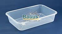 Лоток прозрачный №1 пищевой пластиковый 300х215х65мм Ал-Пластик