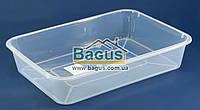 Лоток прозрачный №2 пищевой пластиковый 355х255х70мм Ал-Пластик