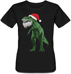 Женская футболка Santa Rex (чёрная)