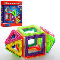 Конструктор магнитный разноцветный, 14 элементов (JH6898)