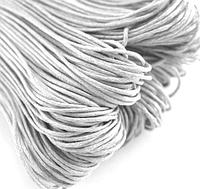 Шнур вощенный,  толщина 1 мм,  5 м, цвет белый