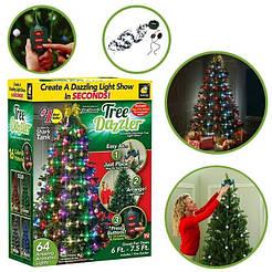 Конусная гирлянда на ёлку Tree Dazzler 48 Led лампочки , елочная гирлянда