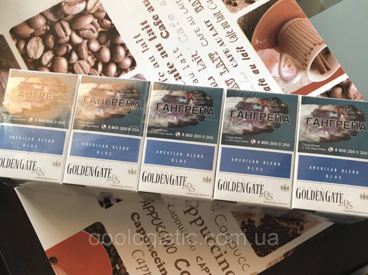 Сигареты Golden Gate Blue блок 10 пачек duty free Германия, фото 1