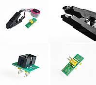 SOIC8 SOP8 Адаптер зажим для USB программатора + 2 адаптеры